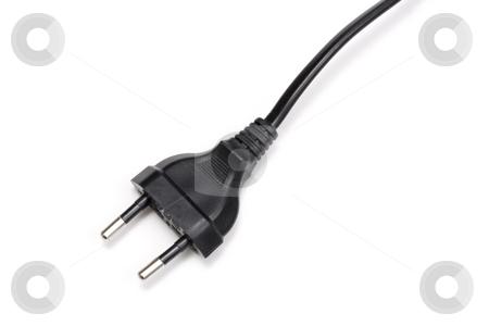 Electrical plug stock photo, Electrical plug on white by Ingvar Bjork