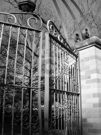 Dark Gates stock photo, Mysterious gate. by Anna Paz