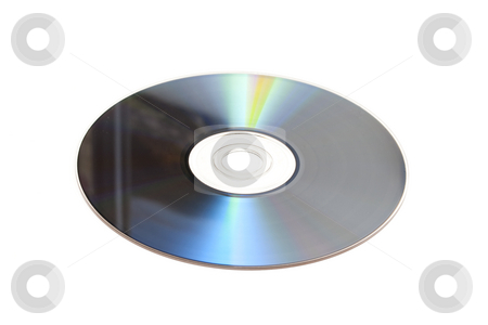 DVD stock photo, DVD isolated on white background by Ingvar Bjork