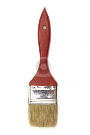 Paintbrush stock photo, Paintbrush isolated on white background by Ingvar Bjork