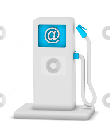 Internet Point Station stock photo, Internet service station that suggests internet charging system by Nuno Andre