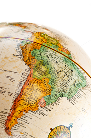 Globe - South America stock photo, Part of a globe with map of South America by Elena Elisseeva