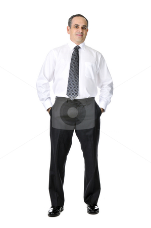 Business man in suit stock photo, Business man in suit isolated on white background by Elena Elisseeva