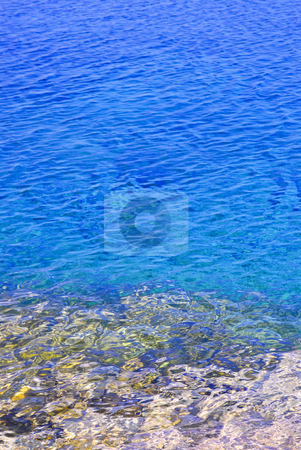 Blue water at shore of Georgian Bay stock photo, Clear blue water of Georgian Bay at Bruce peninsula Ontario Canada by Elena Elisseeva