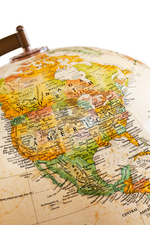 Globe - North America stock photo, Part of a globe with map of North America by Elena Elisseeva