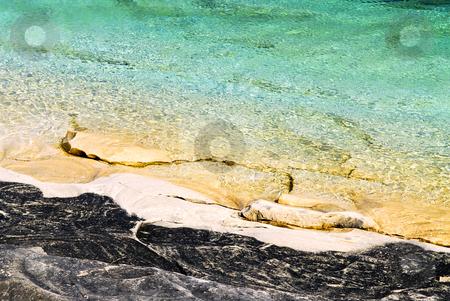 Rocks at shore of Georgian Bay stock photo, Rock and clear water at shore of Georgian Bay Ontario by Elena Elisseeva