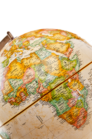 Globe - Africa stock photo, Part of a globe with map of Africa by Elena Elisseeva