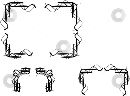 Wire wands stock photo, Wire wands design elements for graphics and borders by Gary Nicolson