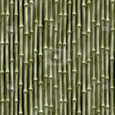 Bamboo Seamless Texture stock photo, Seamless bamboo poles texture - tiles as a pattern in any direction. by Todd Arena