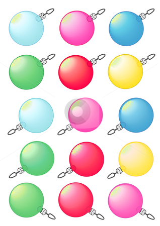 Christmas Bulbs stock vector clipart, Vector Illustration of decorative Christmas tree baubles in various colors. by Robert Gebbie