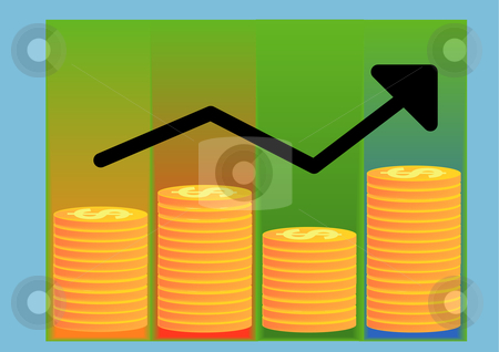 Profits stock vector clipart, Vector Illustration of a profit chart showing financial growth by Robert Gebbie