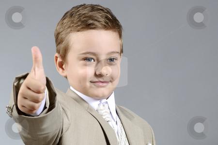 Ok boy stock photo, Little boy showing his ok attitude by Dragos Iliescu