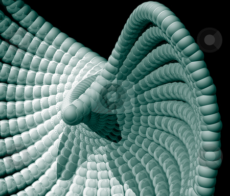 Abstract organism stock photo, Abstract organic form on black background - 3d illustration by J?