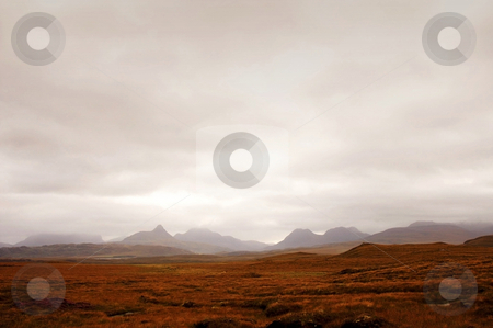 Alien scotland stock photo, Mysterious scotland landscape looking like from another planet by Karin Claus