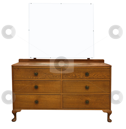 Antique Dressing Table with Mirror stock photo, Antique Dressing Table with Mirror isolated with clipping path by Margo Harrison
