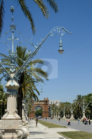Barcelona stock photo, Arc of triumphe in barcelona streets by Marc Torrell