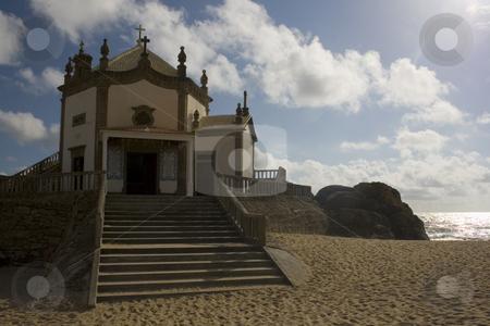 Church stock photo, Church on a portuguese beach by Marc Torrell