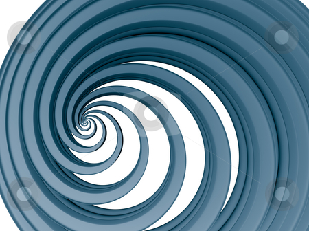 Blue swirl stock photo, Abstract background blue swirl - 3d illustration by J?