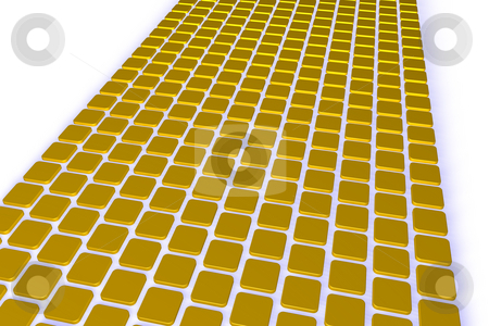 Yellow tiles stock photo, Abstract background yellow tiles - 3d illustration by J?