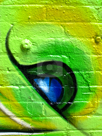 Segment of grafitti stock photo, Segment of grafitti on a wall of a derelict building by Antony Zacharias