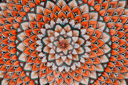 Patterned ceramic stock photo, Detailed pattern on painted ceramic by Antony Zacharias