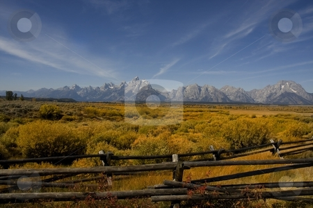 Grand Teton National Mark stock photo, Grand Teton National Park in the fall by Mark Smith