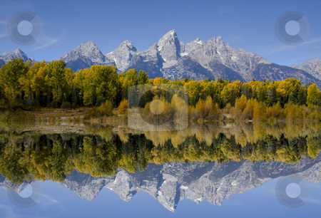 Grand Teton National Park stock photo, Mountain Reflections in Grand Teton Nationl Patk by Mark Smith