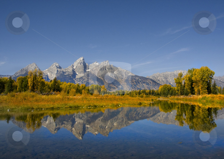 Grand Teton National Park stock photo, Mountain Reflections in Grand Teton National Park by Mark Smith