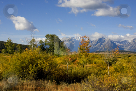 Grand Tetons stock photo, View of the Grand Tetons in Grand Teton National Park by Mark Smith