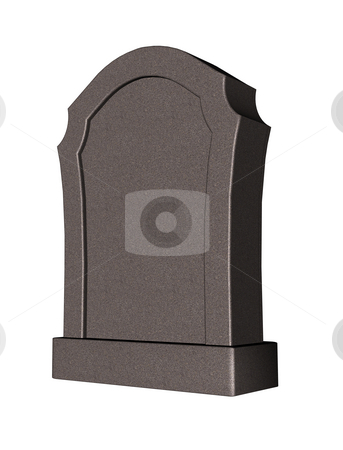 Grave stock photo, Grave stone on white background - 3d illustration by J?