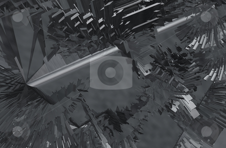 Techno stock photo, Abstract metal construction background - 3d illustration by J?