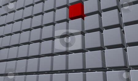 Cubes stock photo, Building of cubes - background - 3d illustration by J?
