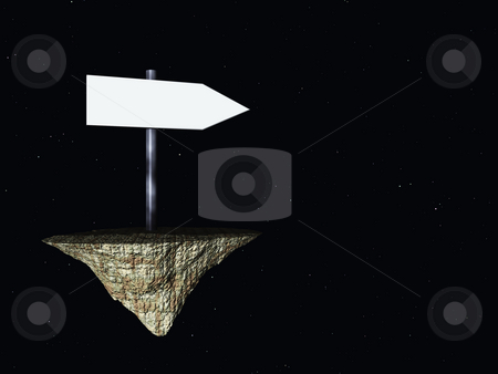 Direction stock photo, Sign show direction in space - 3d illustration by J?