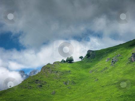 Beautiful mountain landscape stock photo, Beautiful mountain landscape in Lescun Pyrenees by Laurent Dambies