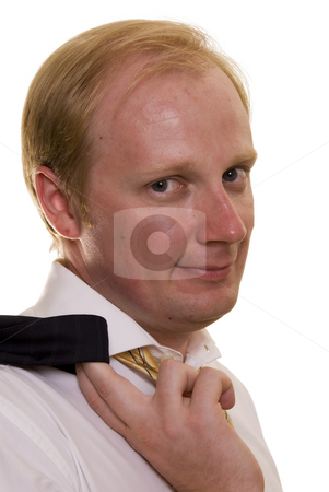 Businesman in casual stock photo, Businesman in casual on white background by Roman Kalashnikov