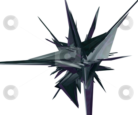 Thing stock photo, Abstract futuristic thing on white background - 3d illustration by J?