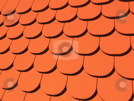 Roof stock photo, Roofing tiles background - 3d illustration by J?
