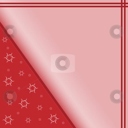 Abstract Background Pink and Red stock vector clipart, Abstract background set on a pink and red gradient with floral type twirls, stripes and plenty of space for text by toots77