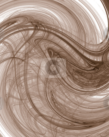 Waves stock photo, Abstract fractal background in brown - illustration by J?