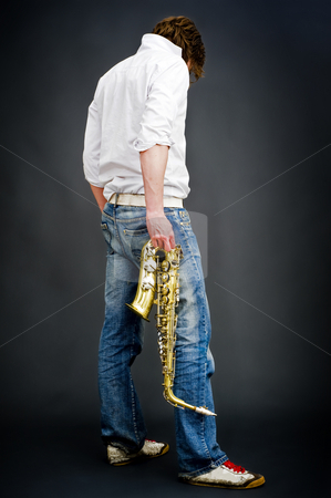 Blues stock photo, A blues musician enacting the lifestyle by Corepics VOF