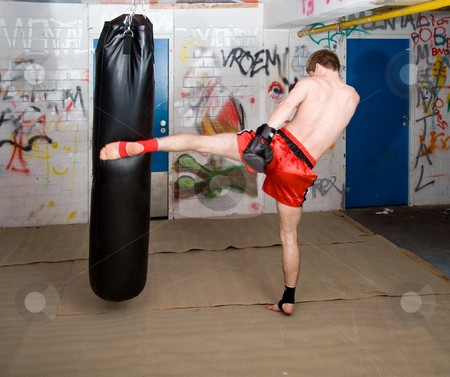Male Kickboxer stock photo,  by Corepics VOF