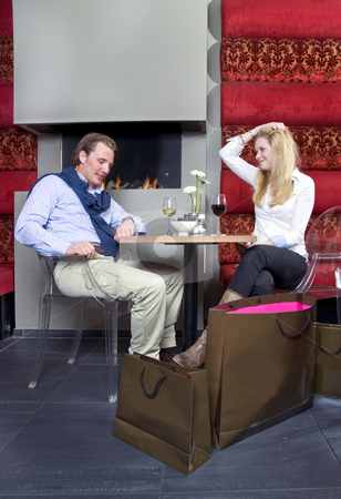 Impatient Couple on date stock photo,  by Corepics VOF