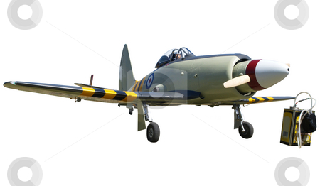 Radio Controled Model Aircraft stock photo, Radio Controled Model Aircraft isolated with clipping path. by Margo Harrison