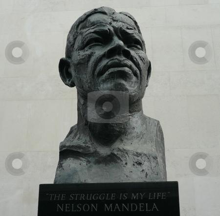 Nelson Mandela Sculpture stock photo, Nelson Mandela Sculpture London by Fabrice Teboul