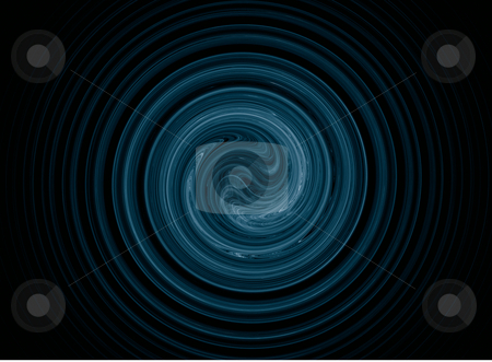 Spiral thing stock photo, Abstract swirl thing on black background - 3d illustration by J?
