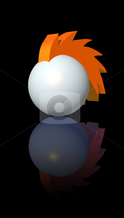 Mohawk ball logo stock photo, Abstract ball in mohawk style - 3d illustration by J?