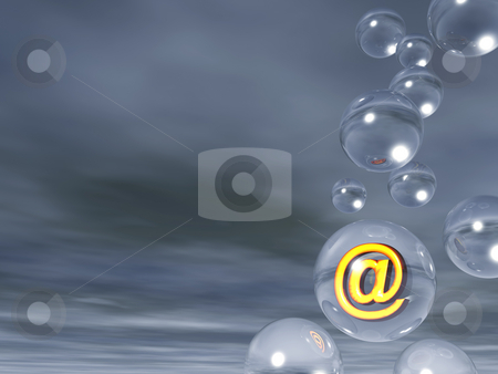 Email  stock photo, Email alias in a glass ball - 3d illustration by J?