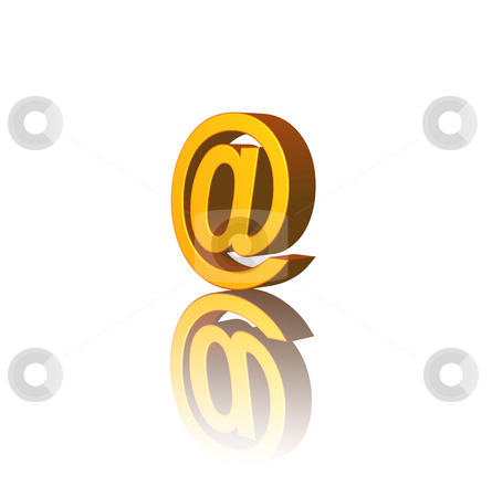 Email alias stock photo, Email alias on white background - 3d illustration by J?