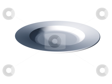 Plate stock photo, Plate on white background - 3d illustration by J?