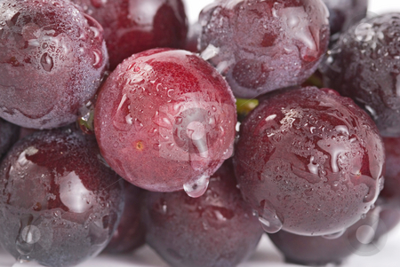 Grapes with waterdrops, fresh fruit. stock photo, Fresh grapes with waterdrops, delicious fruit. by Lawren